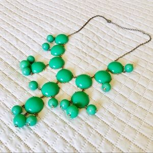Francesca's Bright Green Bauble Statement Necklace